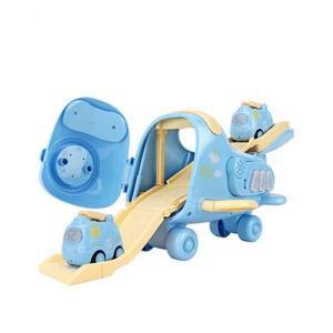Jucarie avion cargo copii GO bleu imagine