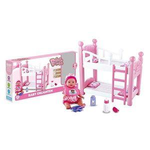 Patut etajat de jucarie cu papusa inclusa Baby imagine