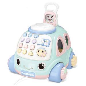 Masinuta educativa cu telefon, forme, toba pentru bebe imagine
