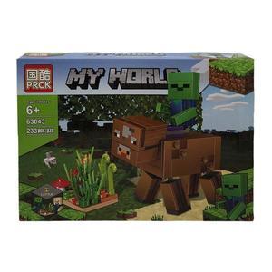 Set de constructie Lego Minecraft, Bou, 233 piese imagine