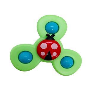 Jucarie senzoriala cu ventuza si clopotei pentru bebelusi, Verde imagine