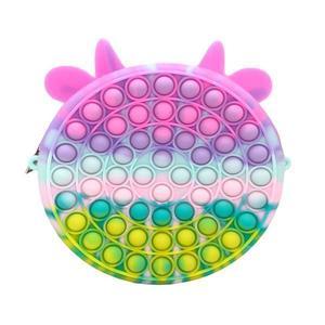 Jucarie antistres din silicon pop it, gentuta, unicorn, multicolor, 18x18 cm imagine