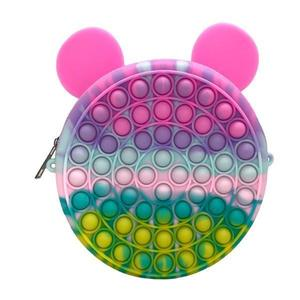 Jucarie antistres din silicon pop it, gentuta, ursulet, multicolor, 18x18 cm imagine