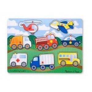 Puzzle Lemn Vehicule imagine