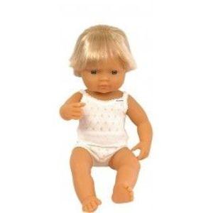 Miniland - Baby european (baiat) Papusa 38 cm imagine