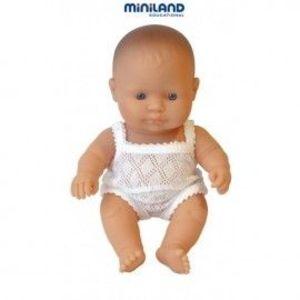 Miniland - Baby european (fata) Papusa 21cm imagine