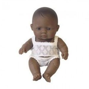 Papusa bebelus fetita latinoamericanca 21 cm - Miniland imagine