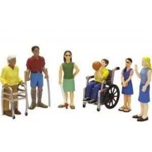 Persoane cu handicap set de 6 figurine - Miniland imagine