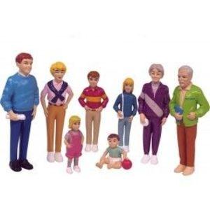 Familie de europeni set de 8 figurine - Miniland imagine