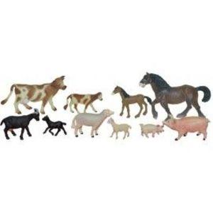 Animale domestice cu puii set de 10 figurine - Miniland imagine