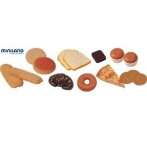 Produse de cofetarie set de 15 figurine la borcan - Miniland imagine