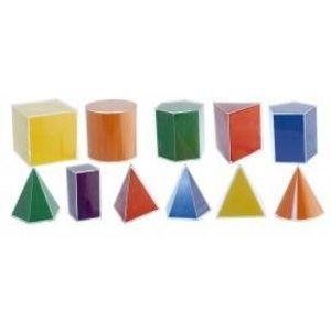 Set didactic de 11 corpuri geometrice Volum si Poliedru - Miniland imagine