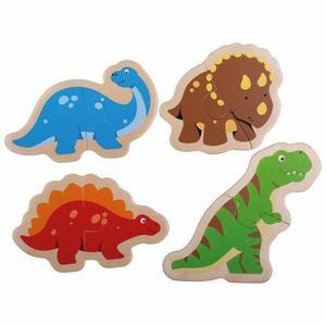 Puzzle din lemn - Dinozauri imagine
