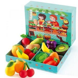 Jucarii educative - set Fructe si legume - Djeco imagine