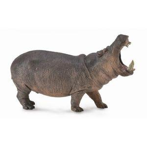 Figurina Hipopotam pictata manual XL Collecta imagine